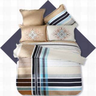 MERCURY 水星家纺 纯棉床上四件套 苏格兰曲 1.8m床