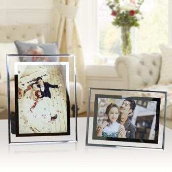 创意水晶玻璃相框摆台6,7,8,10寸A4影楼儿童相架 一个 5寸(