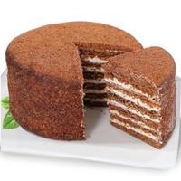 俄之诺俄式提拉米苏生日蛋糕营养早餐千层蛋糕学生休闲食品零食 巧克力味400g
