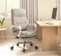 Hbada 黑白调 HDNY180 布艺办公椅电脑椅 (灰色带脚托)