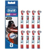 Prime会员:Oral-B 欧乐-B EB10 儿童电动牙刷替换刷头 星球大战 8只装