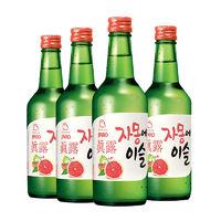 Jinro 真露 烧酒组合装 17.2度 4口味 360ml*4瓶