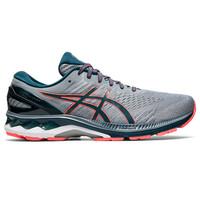 ASICS 亚瑟士 Gel-Kayano 27 男士跑鞋 1011A767-021 灰色/蓝绿色/红色 42
