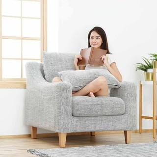 8H 蓝标一号 美式简约独立弹簧布艺沙发 单人位