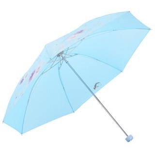 Paradise 天堂伞 三折钢杆晴雨伞 浅兰