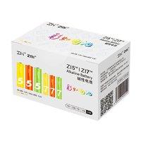 聚划算百亿补贴:ZMI 紫米 彩虹碱性电池 5号12粒+7号12粒