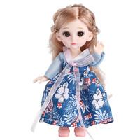 移动专享:KIDNOAM 古装汉服娃娃套装 颜色随机