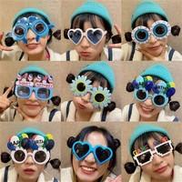 圣诞节眼镜新年派对墨镜拍照搞怪装饰可爱太阳镜网红自拍搞笑沙雕