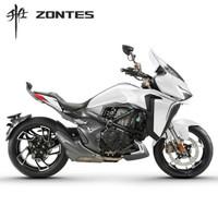 升仕ZONTES 2021新款310VX单摇臂 ABS国四碟刹单缸水冷电喷310cc摩托车 珍珠白