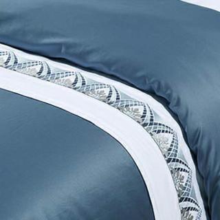 MERCURY 水星家纺 新甄贵纯棉床上四件套 1.8m床 蓝色