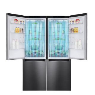 LG 乐金 银色套装 M450S1+M450S1 嵌入式对开门冰箱  680L 银色