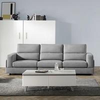 KUKa 顾家家居 2068 简约现代科技布沙发 三人位
