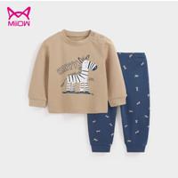 Miiow 猫人儿童保暖内衣套装 *2件