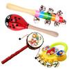 简韵(JianYun) 0-1岁新生婴儿玩具手摇铃铛沙锤铃铛拨浪鼓摇摇棒铃哄孩子4件组合套装乐器玩具 沙锤+棒铃+手摇铃+拨浪鼓(颜色随机)