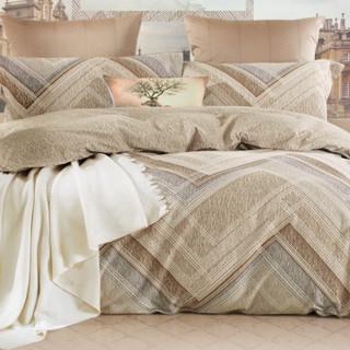 MERCURY 水星家纺 全棉磨毛四件套 左右格调 1.5m床