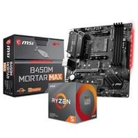 AMD R5 3600 CPU处理器 + msi 微星 B450M MORTAR MAX 迫击炮 板U套装