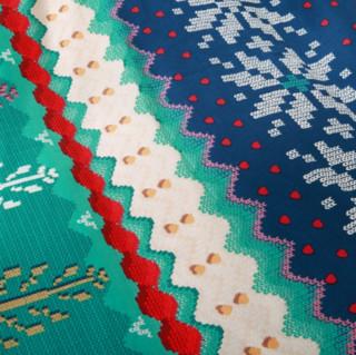 MERCURY 水星家纺 纯棉床品四件套 美国派 1.8m双人床