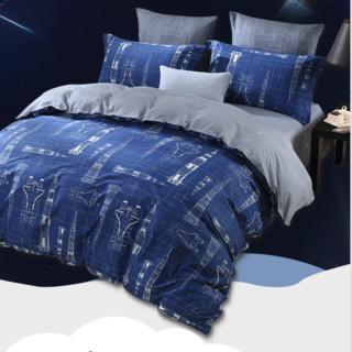 MERCURY 水星家纺 全棉印花四件套 太空梦想 1.5m床