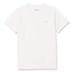 Champion 男士棉质刺绣圆领套头短袖T恤T0223-045 白色XXL