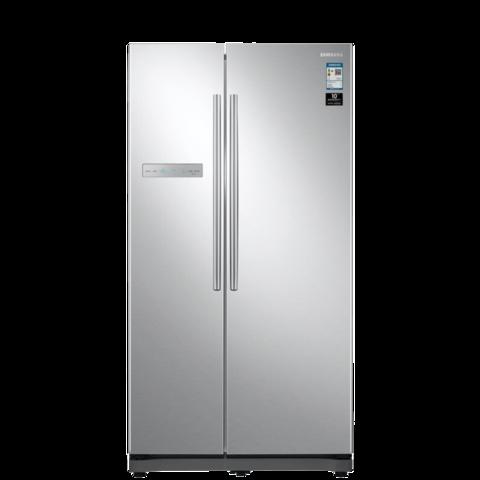 SAMSUNG 三星 545升双开门冰箱 对开门风冷无霜电冰箱 全环绕气流 智能变频 RS55N3003SA/SC 银