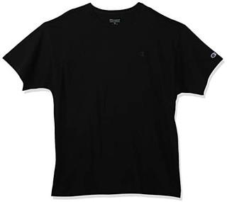 Champion 男士棉质刺绣圆领套头短袖T恤T0223-003 黑色S