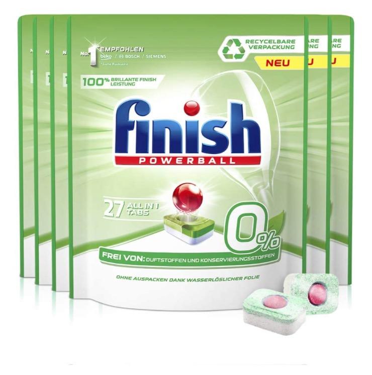 finish 0% 多效合一洗碗机专用洗涤块 27片*6包