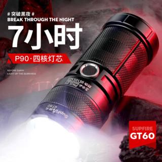 神火(supfire)GT60强光手电筒超亮远射p90充电式探照灯变焦应急户外家用