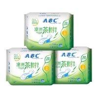 聚划算百亿补贴:ABC 茶树精华棉柔日用卫生巾 240mm 8片*3包装