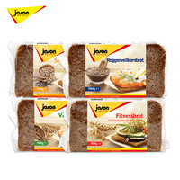 临期品:jason 捷森 燕麦谷物 全黑麦面包 500g *2件