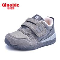 基诺浦春款男女儿童防滑机能鞋宝宝学步鞋软底婴儿童鞋TXG522 浅灰/深灰 10