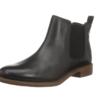 Clarks 其乐 Taylor Shine系列女士复古英伦切尔西皮革短靴261119654 黑色36