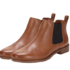 Clarks 其乐 Taylor Shine系列女士复古英伦切尔西皮革短靴261186314 棕褐色37