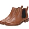 Clarks 其乐 Taylor Shine系列女士复古英伦切尔西皮革短靴261186314 棕褐色39.5