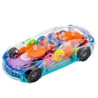 KIDNOAM 電動萬向透明齒輪概念車 帶燈光音樂