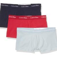 Calvin Klein 卡尔文·克莱 男士纯棉弹力低腰平角内裤套装NU2664