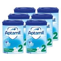 Aptamil 爱他美 德国 婴幼儿奶粉 蓝罐 2段 800g*6罐