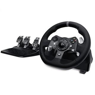 Logitech 罗技 G920驱动力赛车车轮和油门 实力反馈 英国插头 黑色