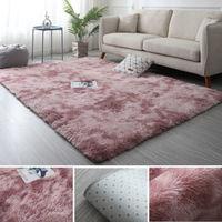 Tianming 天鸣 北欧长毛绒地毯 藕粉色 40*60cm