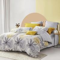 LOVO 乐蜗家纺 法兰绒套件 懒懒睡意-黄色 1.8米床(被套220x240cm)