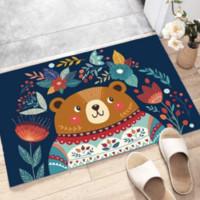 移动专享:恰洋 卡通地毯  小胖熊 40*60cm可裁剪