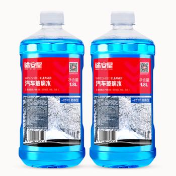 TUHU 途虎 途安星 -25℃ 汽车玻璃水 1.8L*2桶 *2件 *2件