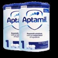 Aptamil 爱他美 婴儿配方奶粉 易乐罐 1段 800g*2罐(0-6个月)英国版