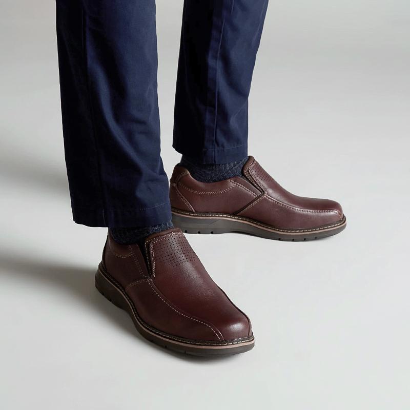 再降价 : clarks 261369997 Un Ramble Step 男士休闲皮鞋