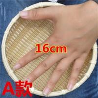 农家竹编簸篮子 竹本色16cm高5cm