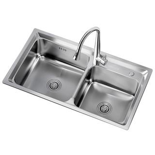 ARROW 箭牌卫浴 AE553211 304不锈钢水槽双槽套餐