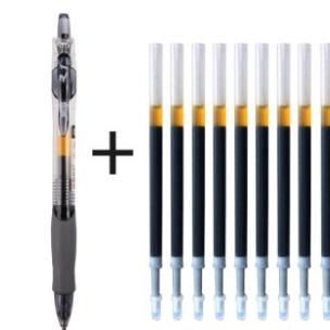 M&G 晨光 GP-1008 中性笔 黑色 0.5mm 1支+10支笔芯