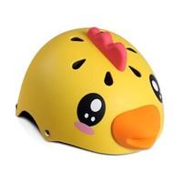 柒小佰 儿童运动头盔安全防护 舒适透气骑行运动配件儿童防护头盔 黄色小鸡款