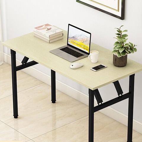 墨例 折叠桌电脑桌办公桌椅会议桌培训桌长条桌子折叠书桌弹簧桌餐桌学习台式桌 单层-80cm*40cm*75cm