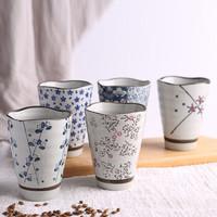 竹木本记 陶瓷波纹茶杯 300ml*5只装