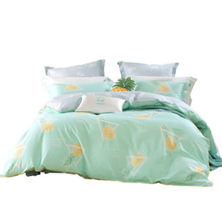 MERCURY 水星家纺 初妆半夏纯棉床品四件套 1.5m床 绿色